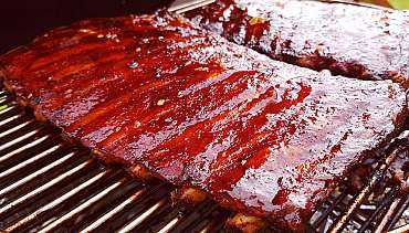 Hot asian bbq ribs