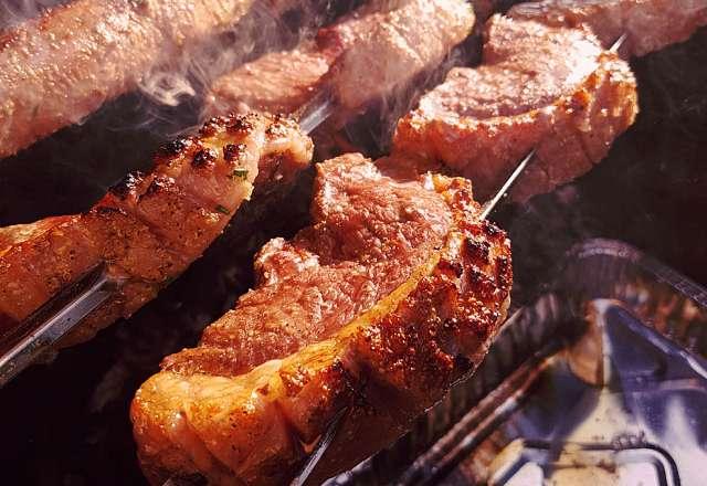 Indirekt grillning klar dags för direkt grillning av Picanha