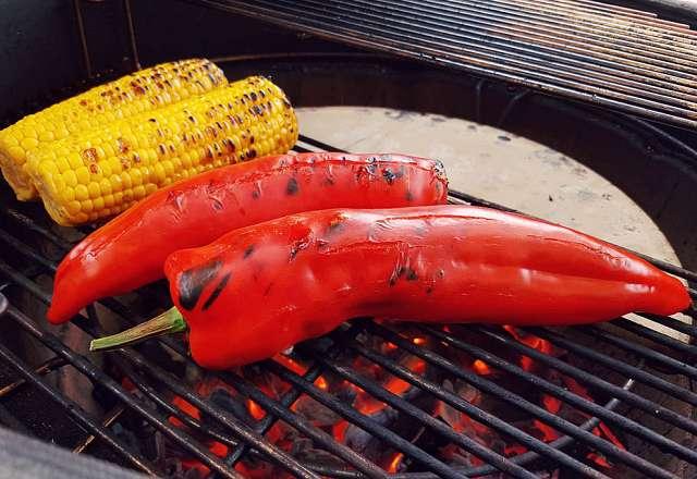 Grillar majs & paprika