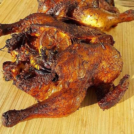 Helgrillad kyckling