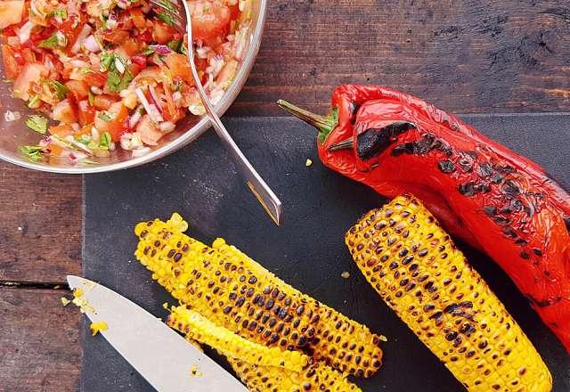 Majs & paprika salsa