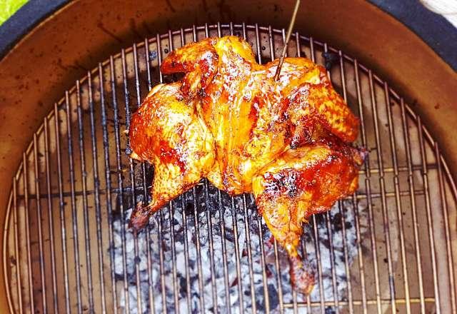 Butterfly kyckling grillas med asiatisk glaze